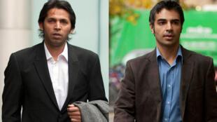 Pakistan cricketer Mohammad Asif (L)  and former Pakistan cricket captain Salman Butt