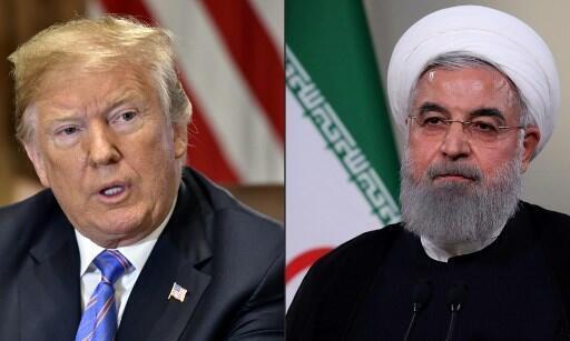 Les présidents américain et iranien, Donald Trump et Hassan Rohani.