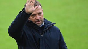 L'entraîneur du Bayern, Hansi Flick, après le match de Bundesliga contre Stuttgart, à Munich, le 20 mars 2021