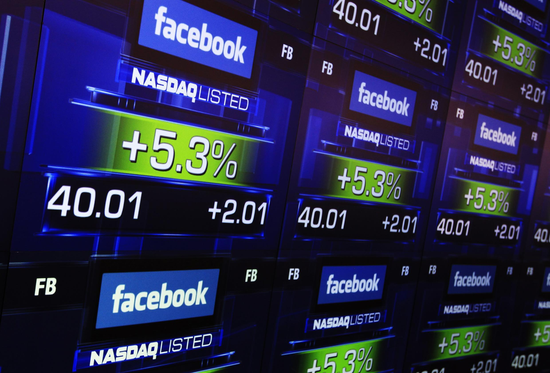 A rede social Facebook entrou na bolsa Nasdaq na sexta-feira 18 de maio de 2012.