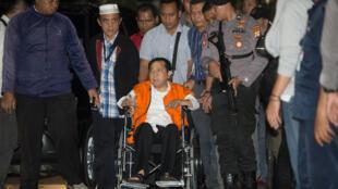 Setya Novanto, le président du Parlement indonésien, a été placé en détention par l'agence anti-corruption, le 20 novembre 2017.