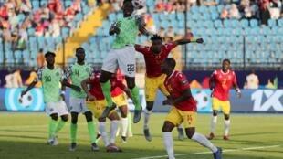 Super Eagles na Najeriya a karawarta da Guinea.