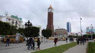 Le centre-ville de Tunis.
