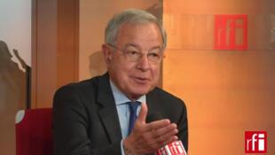 Alain Lamassoure, tête de liste UMP en Île-de-France pour les élections européennes de 2014.