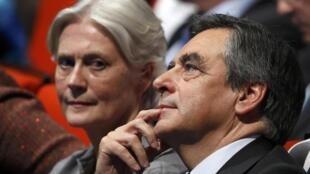 Penelope e François Fillon, 18 de Novembro de 2016.