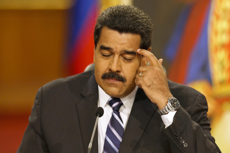 Nicolás Maduro durante una conferencia de prensa en Caracas, el pasado 30 de diciembre de 2014.