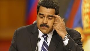 Le président vénézuélien Nicolas Maduro lors d'une conférence de presse à Caracas, le 30 décembre 2014.