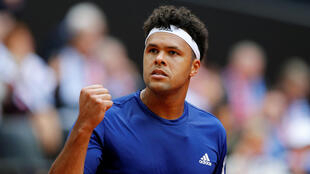 Jo-Wilfried Tsonga won both his singles matches during the semi-final against Serbia.