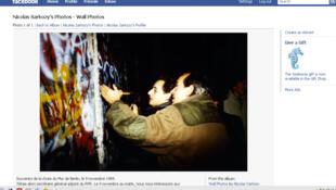 Capture d'écran de la page Facebook de Nicolas Sarkozy.