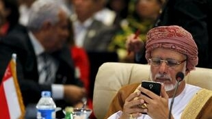 Youssef al-Alawi Abdullah, ministre omanais des Affaires étrangères, photographié à Charm el-Cheikh le 26 mars dernier lors d'une rencontre des membres de la Ligue arabe.