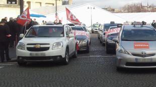 En janvier 2014 les chauffeurs de taxis étaient déjà en grève contre les VTC.