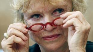 Eva Joly, candidata do Partido Europa Ecologia à eleição presidencial 2012 na França