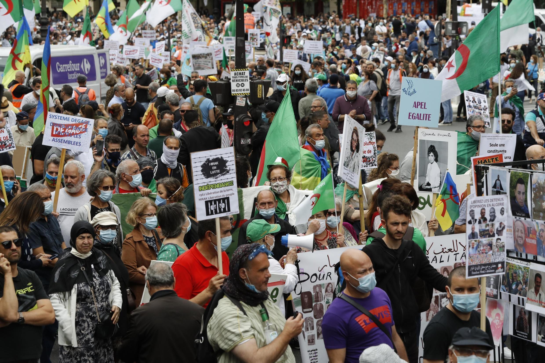 Manifestación a favor del movimiento de protesta argelino Hirak, en julio pasado en París