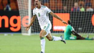 Baghdad Bounedjah apontou o tento que deu o triunfo à Argélia na final do CAN 2019.