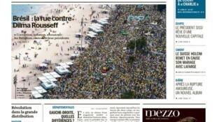 Capa do jornal francês Le Monde destaca manifestações no Brasil