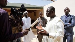 Senegalese opposition leader Macky Sall at his house in central Dakar, 27 February, 2012