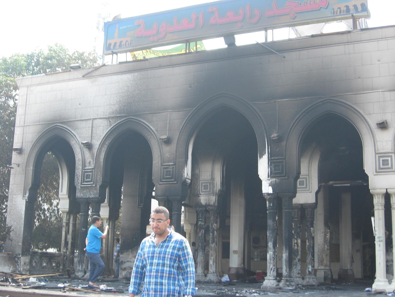 La mosquée de Rabaa, Le Caire, Egypte.