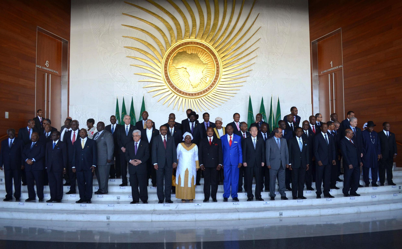Các nguyên thủ Liên hiệp Châu Phi tham gia thượng đỉnh tại Addis-Abeba, 27/01/2013.