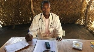 Belun Gartendung, Chadian nurse who supervises the health center at Diba 1 refugee site outside of Baibokoum, southern Chad