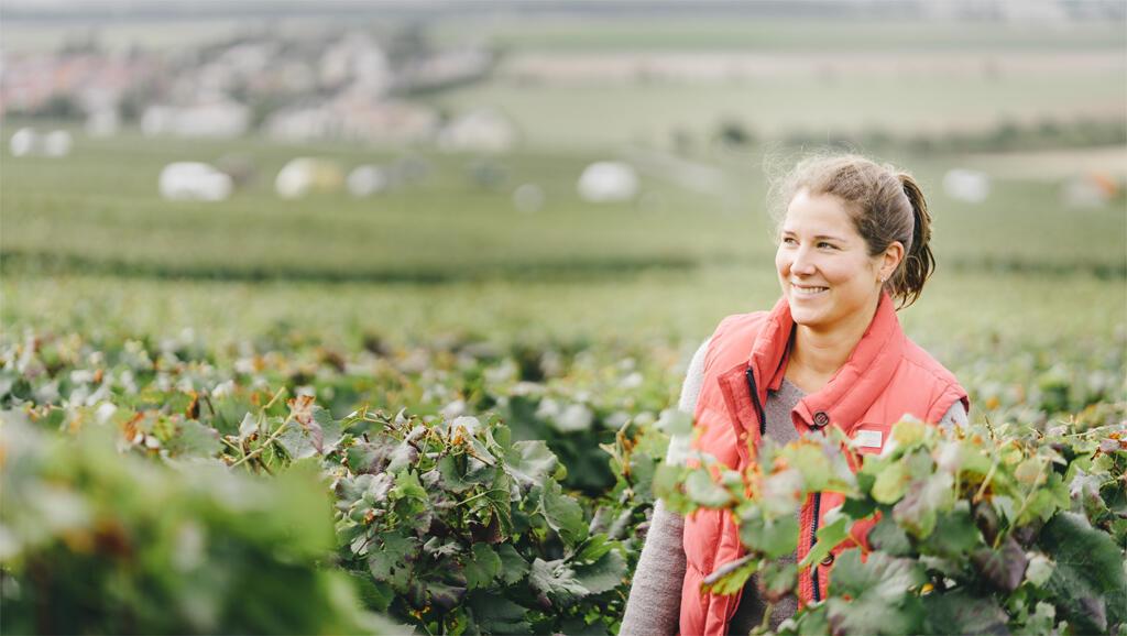 Mathilde Bonnevie, viticultrice à la maison Rochet-Bocart.