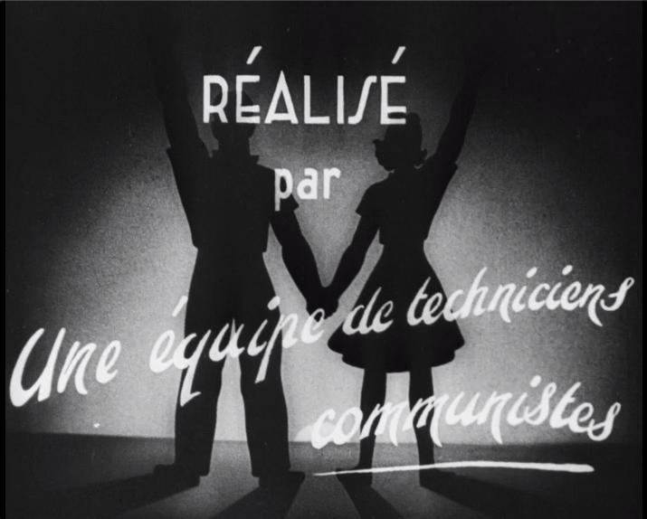 """Image extraite du film """"Les Lendemains qui chantent"""" (Louis Daquin, 1946)."""