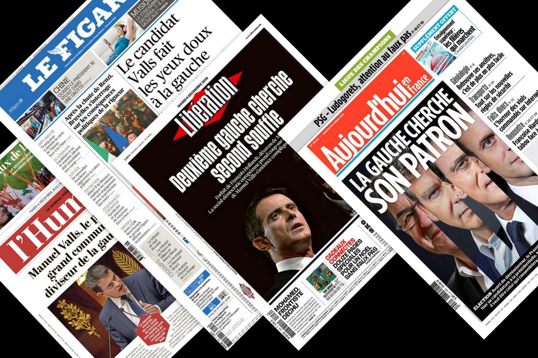 Os principais jornais franceses desta terça-feira falam sobre o anúncio do primeiro-ministro, Manuel Valls, de se candidatar às eleições presidenciais francesas, em 2017.