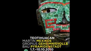 Cartel de la exposición Teotihuacán en Berlín.
