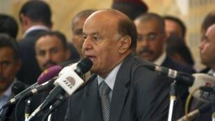 Rais Abed Rabbo Mansour ambaye nchi yake inakabiliwa na upungufu wa chakula