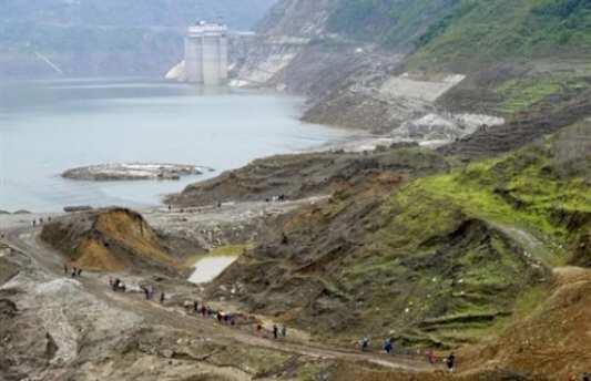 Tại Trung Quốc, nhiều đập thủy điện được xây dựng tại những nơi có nguy cơ động đất cao. Ảnh AFP