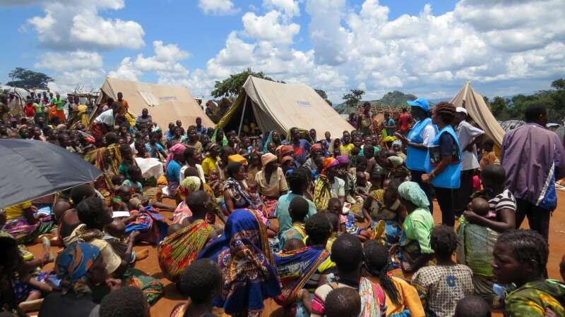 Refugiados moçambicanos em Kapise, no Malawi