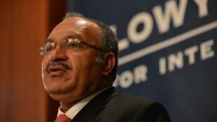 Le Premier ministre de Papouasie-Nouvelle-Guinée, Peter O'Neill.