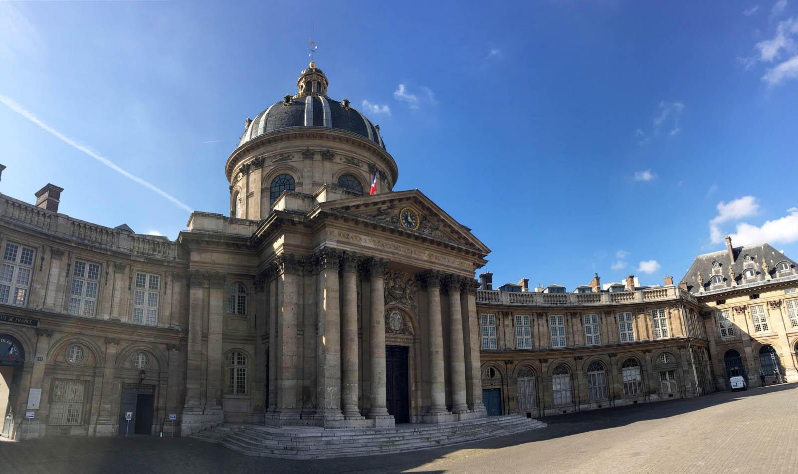 L'Académie française, quai de Conti, à Paris.