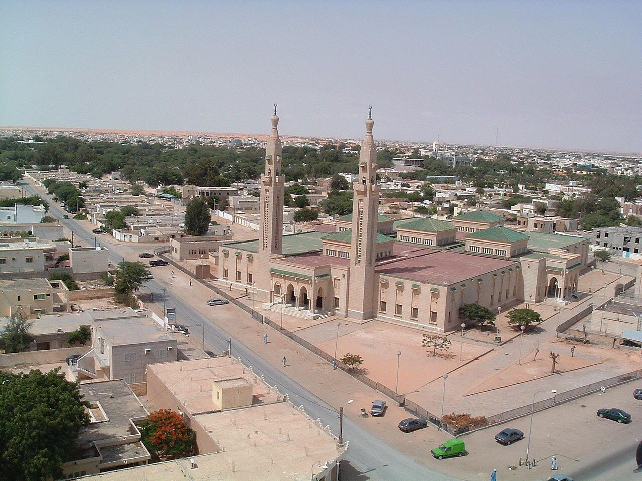 Vue de la ville de Nouakchott, capitale de la Mauritanie.