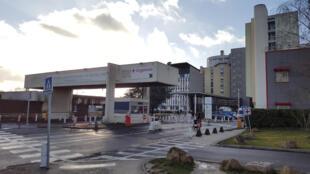 L'entrée du site de l'hôpital de Creil, dans le nord de Paris.