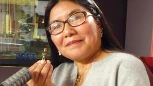 La antropóloga peruana Ch'aska Anka Ninawaman en RFI