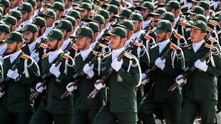 Ảnh tư liệu : Lực lượng Vệ Binh Cách Mạng Iran tham gia diễu binh tại Teheran, ngày 22/09/2018