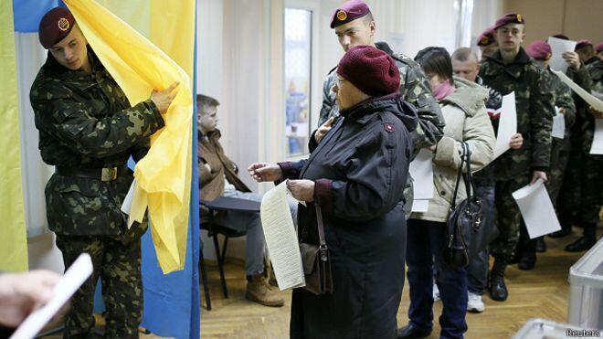 رایگیری در انتخابات پارلمانی اوکراین