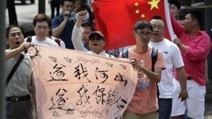 日本駐北京大使館外,2012年8月16日