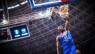 Le Congolais Hervé Kabasélé lors de l'Afrobasket 2017.