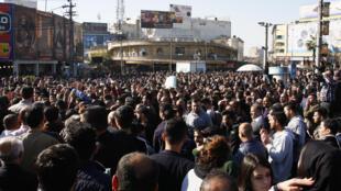 Des manifestants kurdes rassemblés à Souleymanieh pour dénoncer la corruption (image d'illustration).