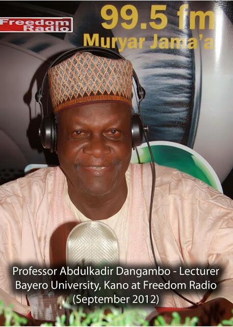 Farfesa Abdulkadir Dangambo na Jami'ar Bayero a Kano