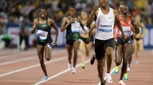 Caster Semenya won in the women's 1500m at the Diamond League athletics competition in Doha, 4 May 2018.
