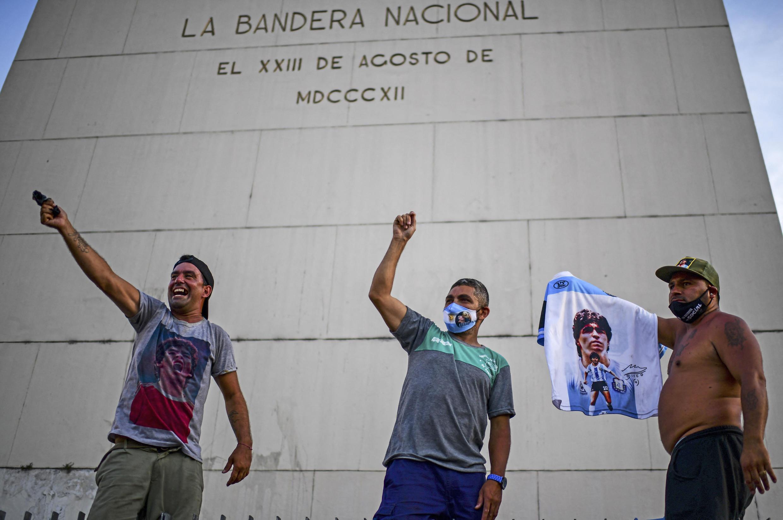 Буэнос-Айрес, 10 марта 2021 года. Пикет с требованием пролить свет на обстоятельства смерти Марадоны.