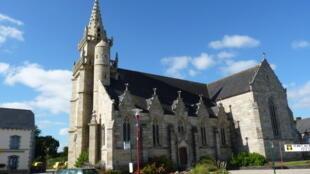 The Saint Pierre church in Maël-Carhaix
