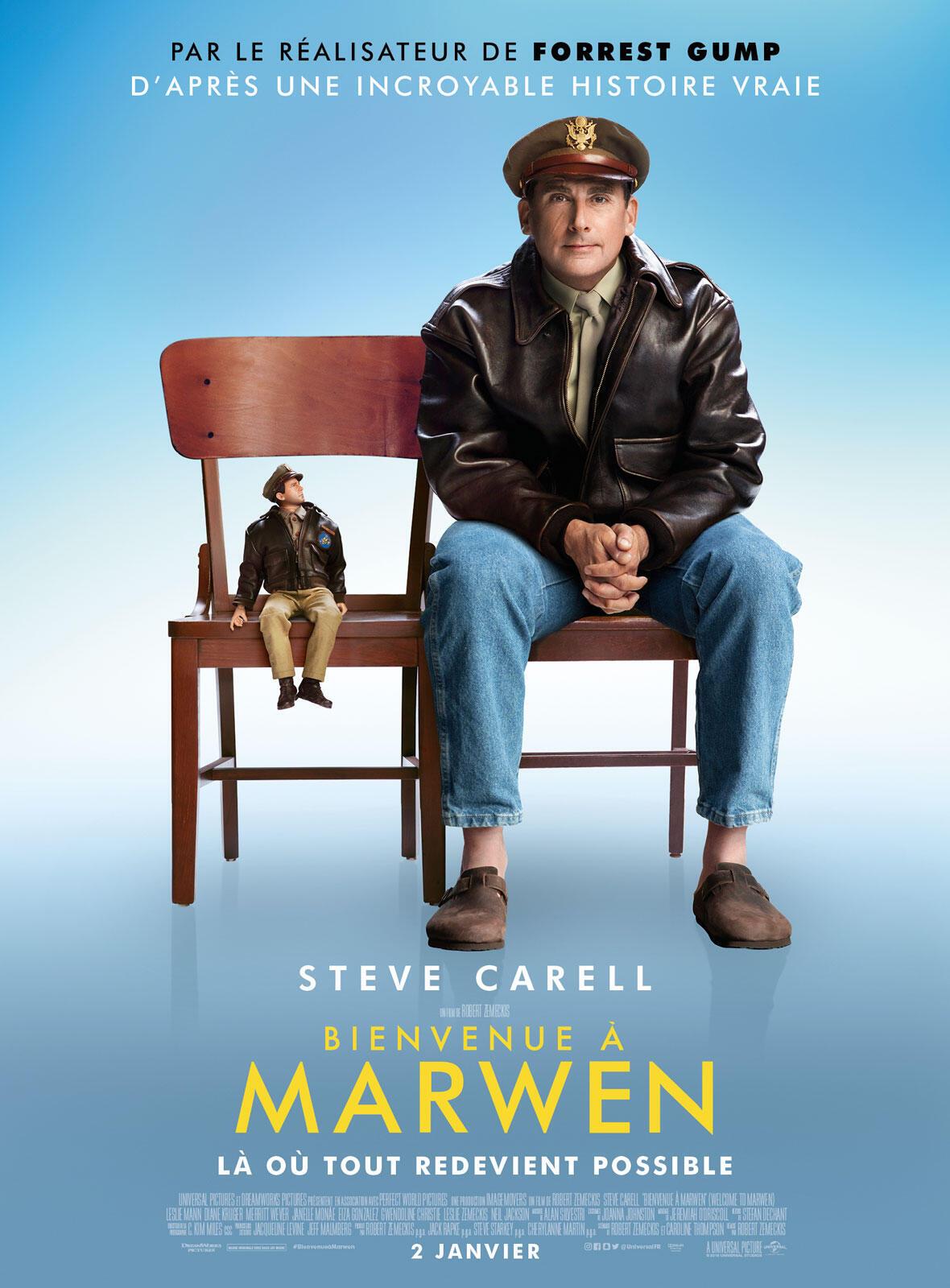 L'affiche du film «Bienvenue à Marwen».