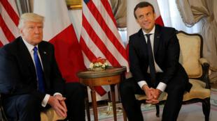 Дональд Трамп и Эмманюэль Макрон пообедали в американском посольстве в Брюсселе на полях саммита НАТО, 25 мая  2017