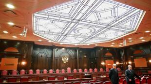 Зал заседаний Конституционного суда РФ в Санкт-Петербурге