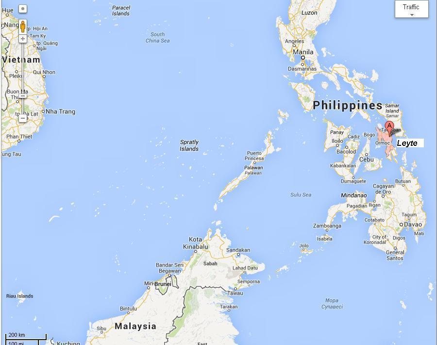 Une partie de la zone océanique Vietnam-Philippines-Malaysie, en Asie du sud-est.