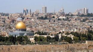 Vue de la vieille ville de Jérusalem.