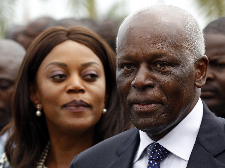 Presidente angolano, José Eduardo dos Santos, e a primeira dama, Ana Paula